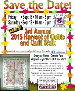 2015 Harvest of Quilts Poster 2