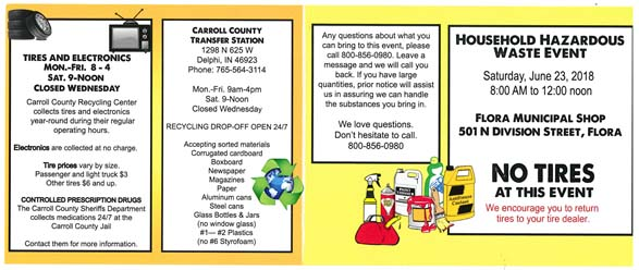 Household Hazardous Waste Collection June 23 | Town of Flora